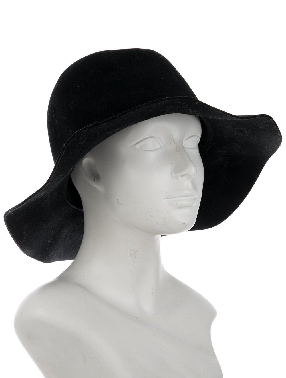 Janessa Leone Wool Wide Brim Hat Black - image 3