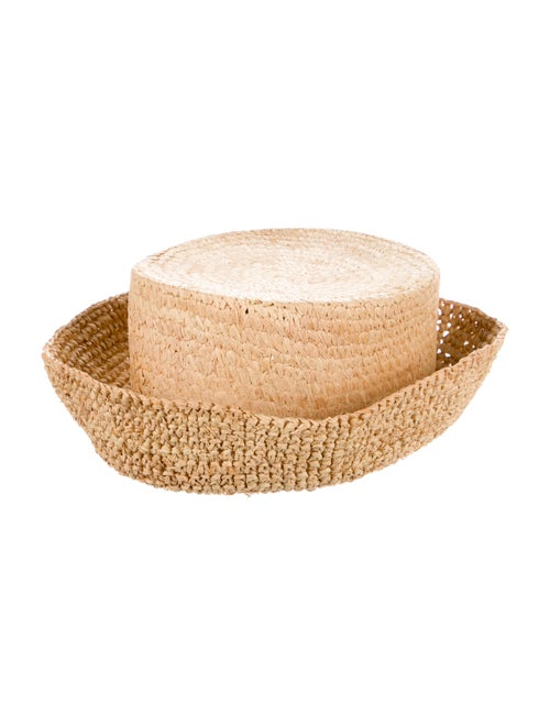 Janessa Leone Yellow Straw Hat yellow - image 1