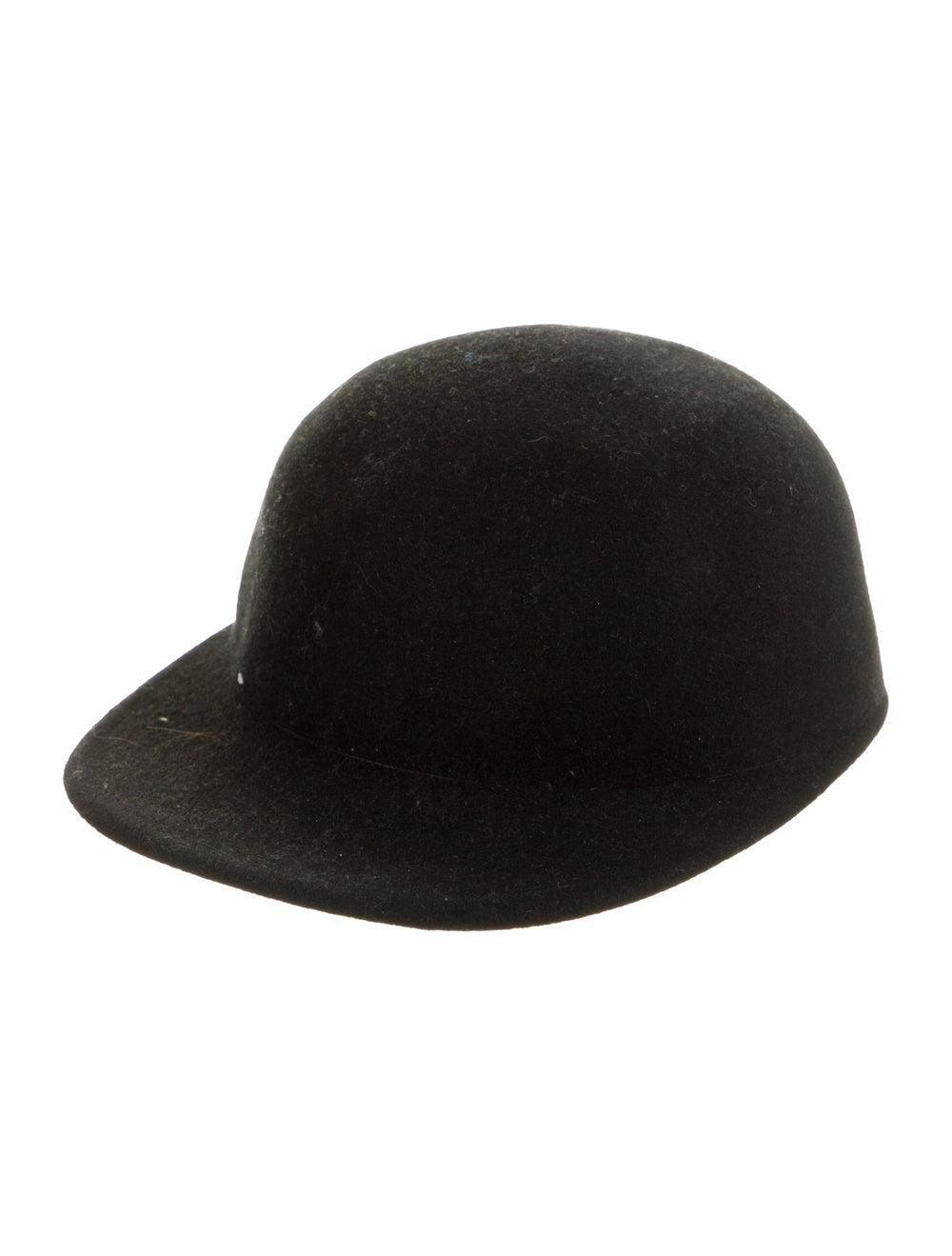 Janessa Leone Wool Jockey Hat Black - image 1