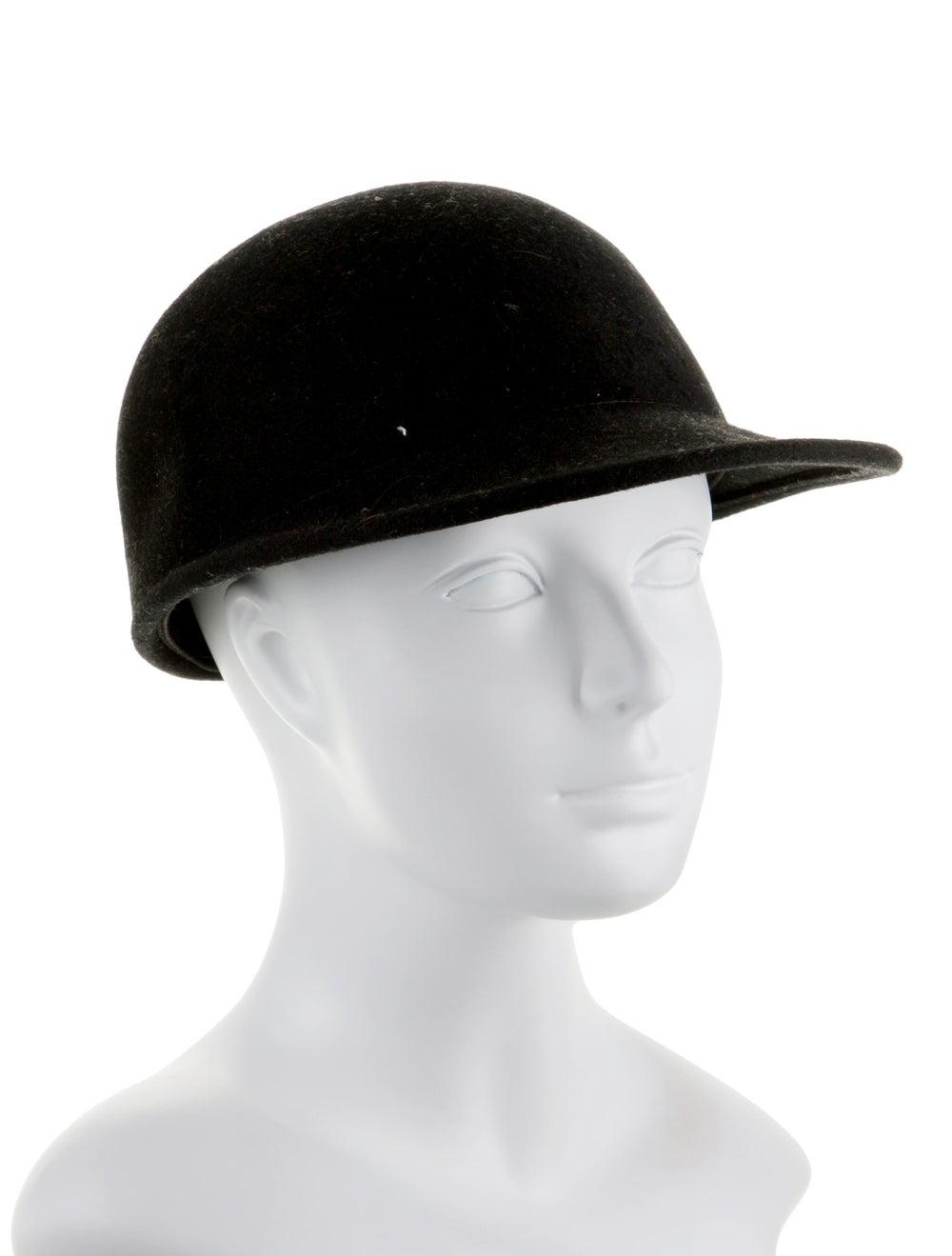 Janessa Leone Wool Jockey Hat Black - image 3