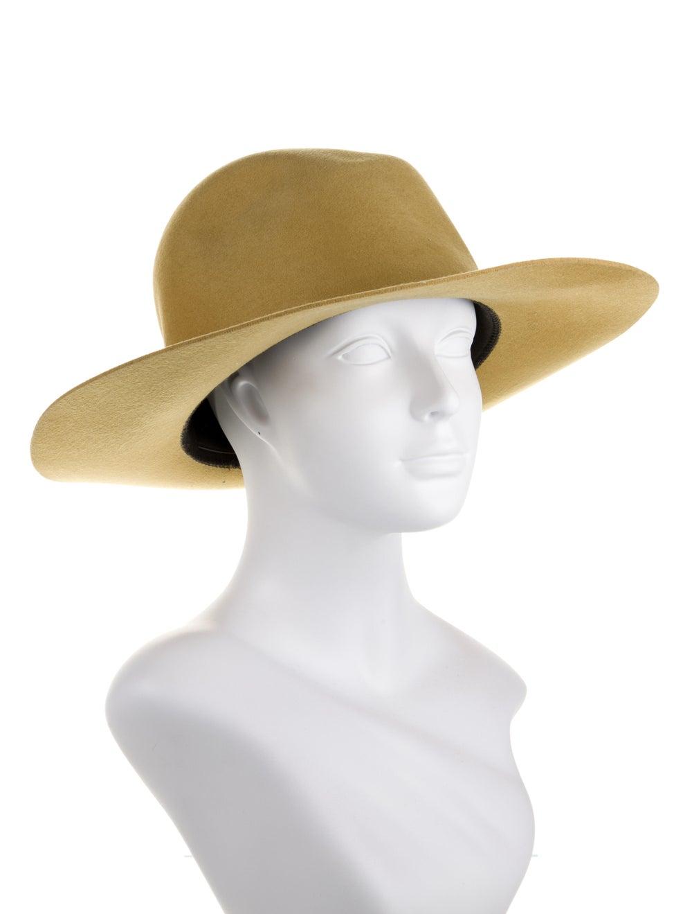 Janessa Leone Wool Fedora Hat Yellow - image 3