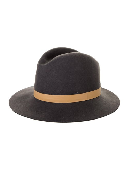 Janessa Leone Wool Brim Hat Grey - image 1