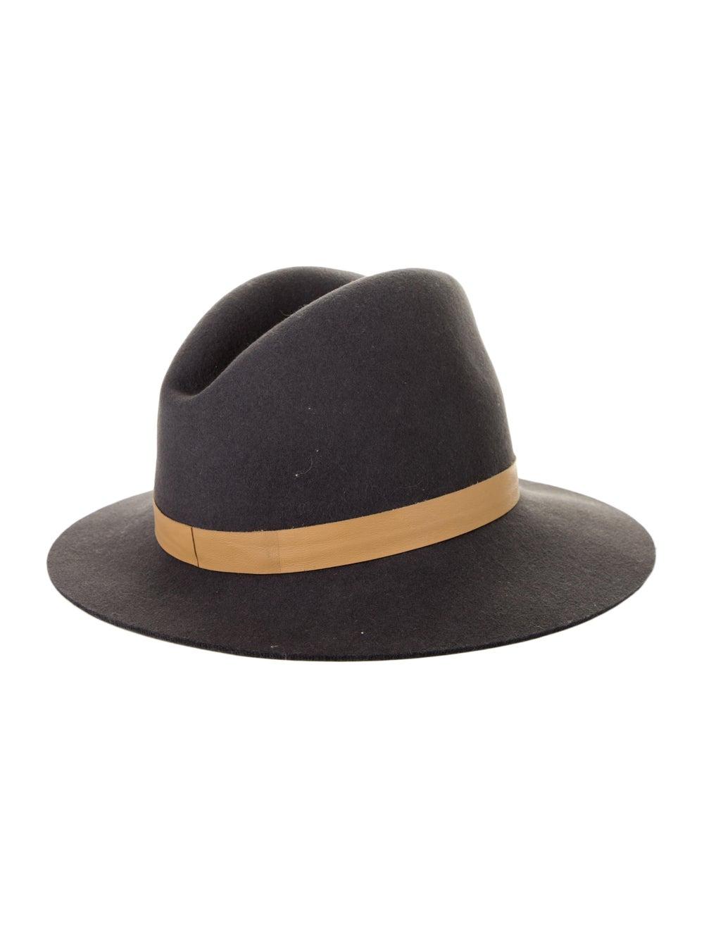 Janessa Leone Wool Brim Hat Grey - image 2