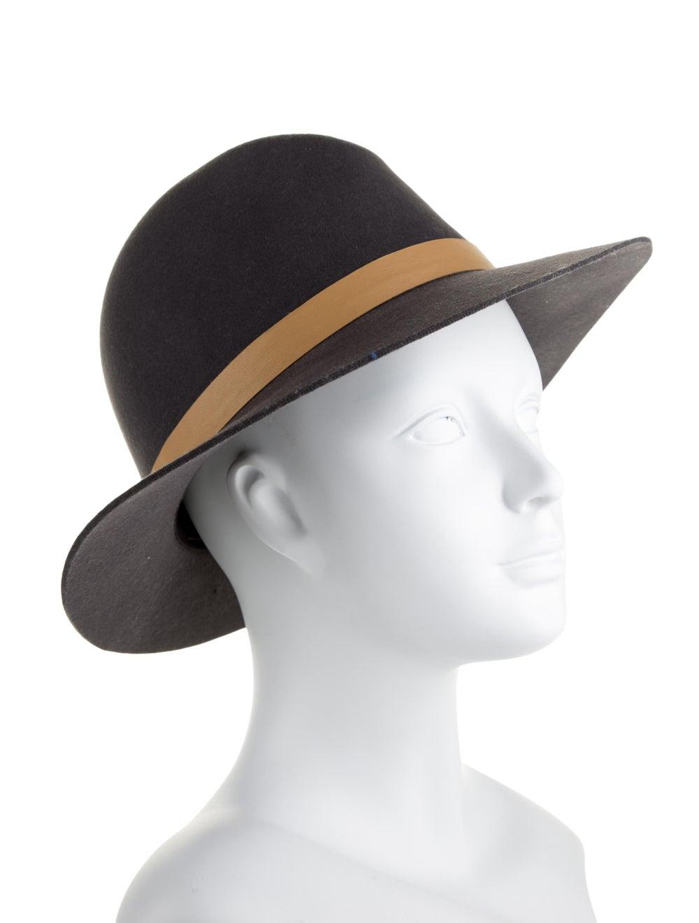 Janessa Leone Wool Brim Hat Grey - image 3