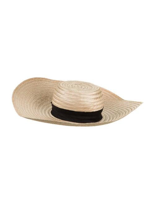Janessa Leone Straw Wide Brim Hat Tan - image 1