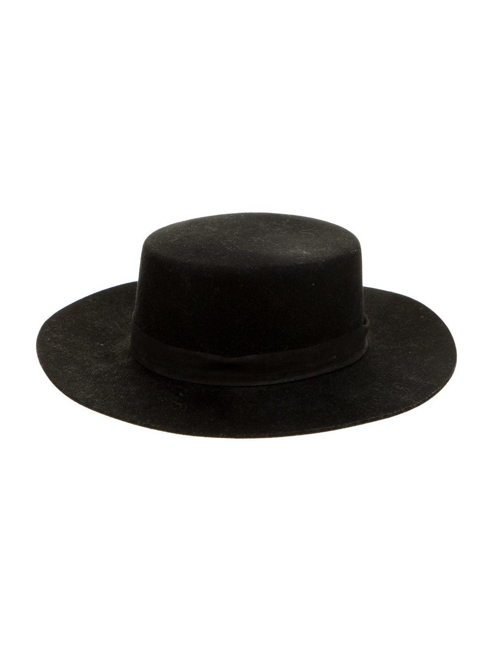 Janessa Leone Wool Wide-Brim Hat Black - image 1