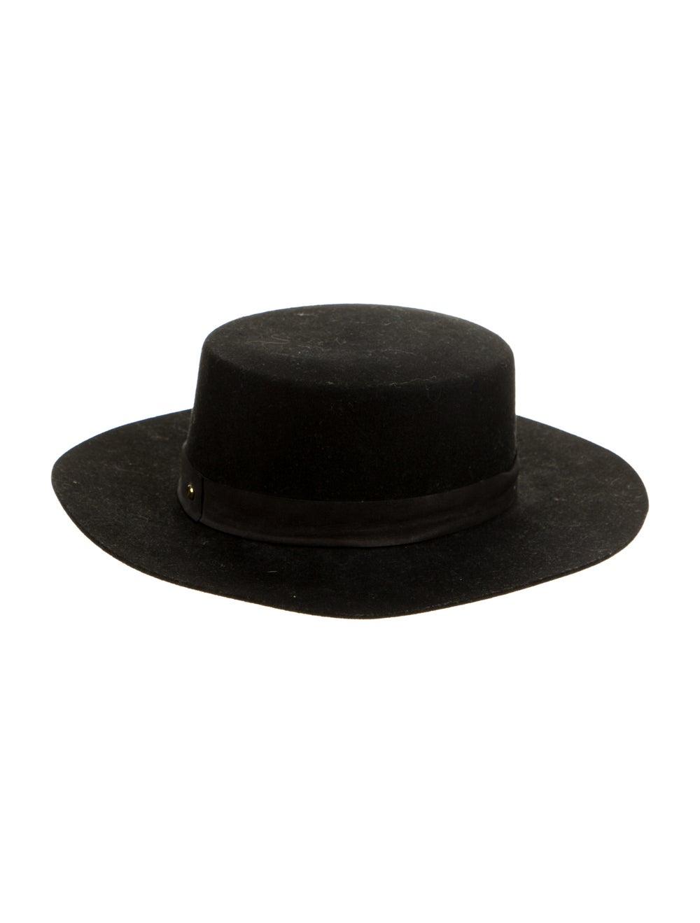 Janessa Leone Wool Wide-Brim Hat Black - image 2
