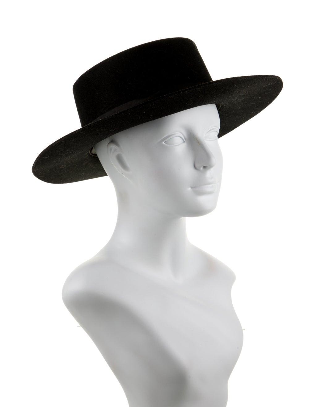 Janessa Leone Wool Wide-Brim Hat Black - image 3