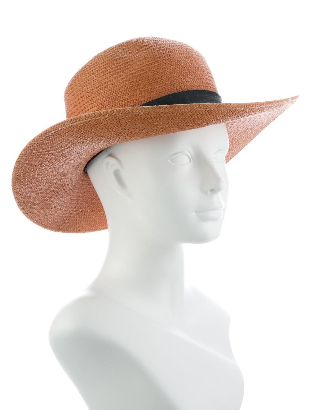 Janessa Leone Straw Wide Brim Hat Tan - image 3