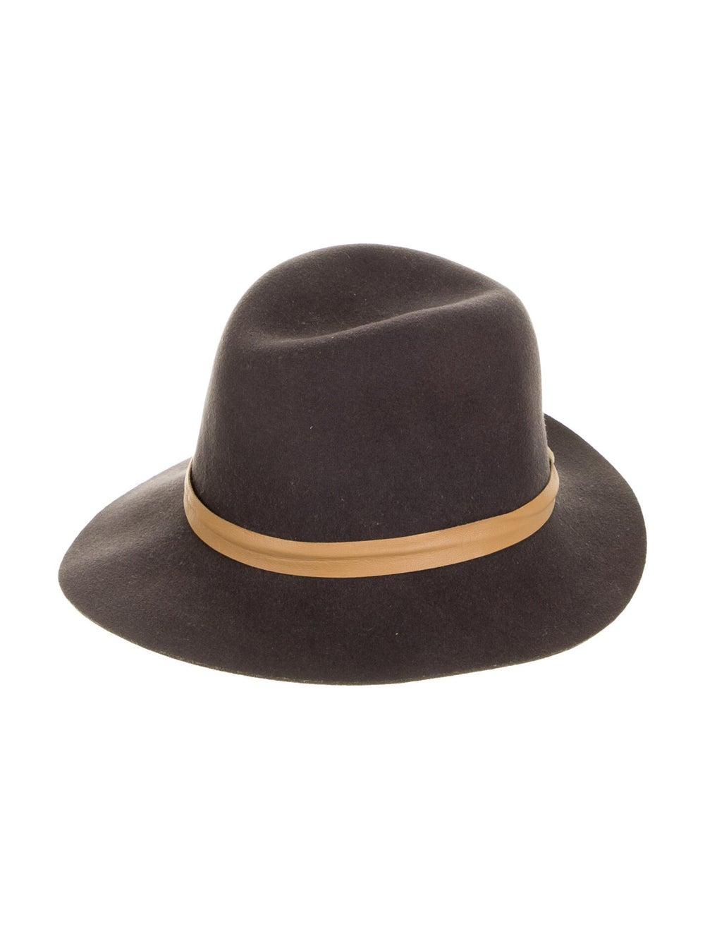 Janessa Leone Wool Fedora Hat brown - image 1