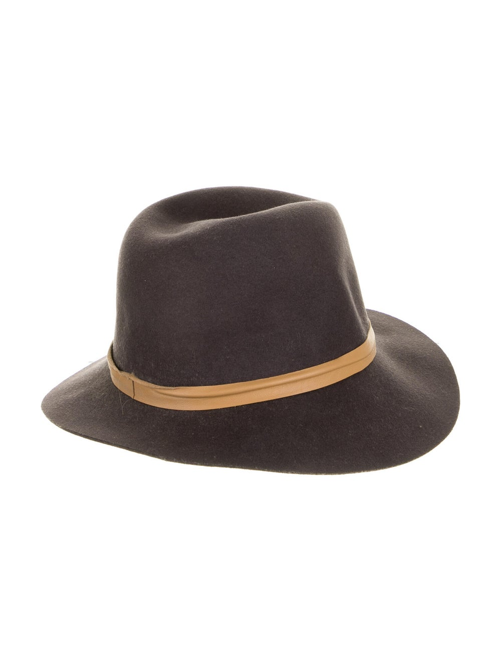 Janessa Leone Wool Fedora Hat brown - image 2