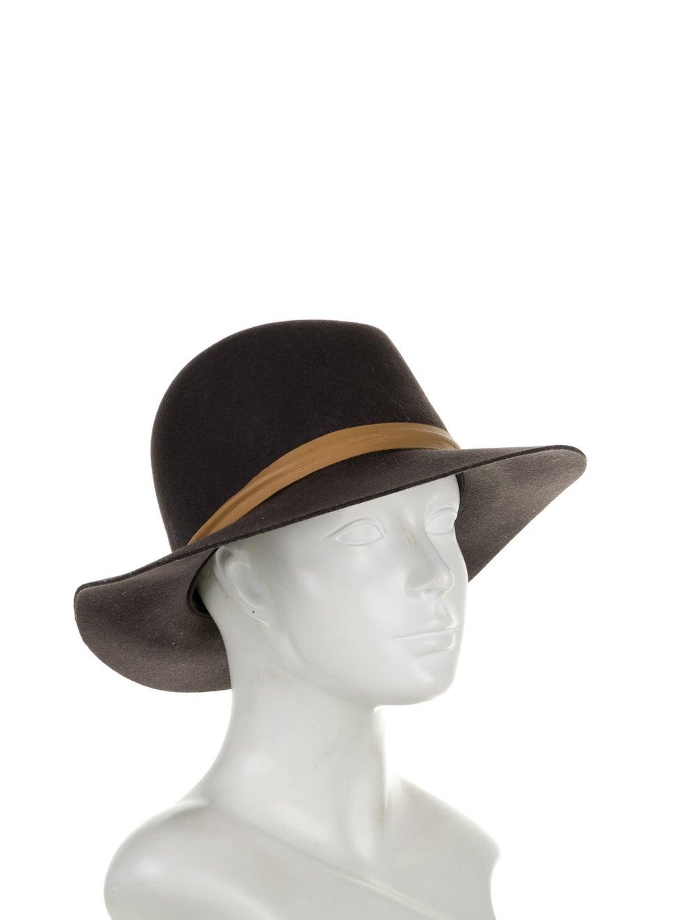 Janessa Leone Wool Fedora Hat brown - image 3