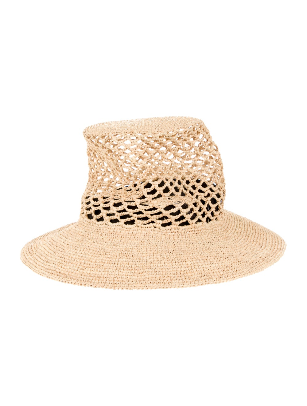 Janessa Leone Straw Wide Brimmed Hat Brown - image 2