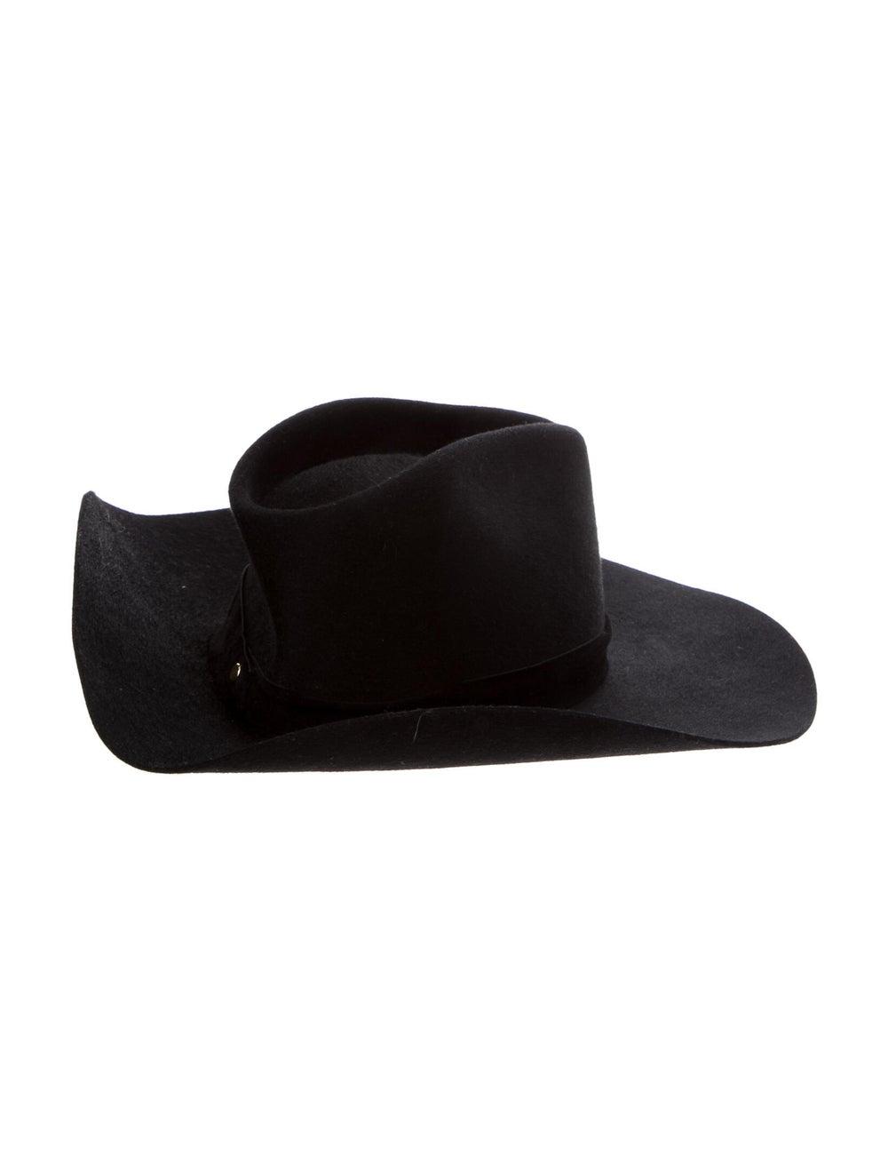 Janessa Leone Wide Brim Hat w/ Tags Black - image 2