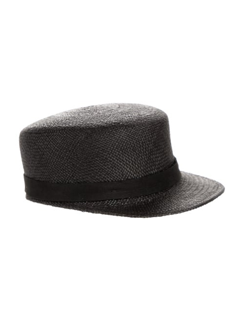 Janessa Leone Grey Straw Messenger Hat w/ Tags Gr… - image 1