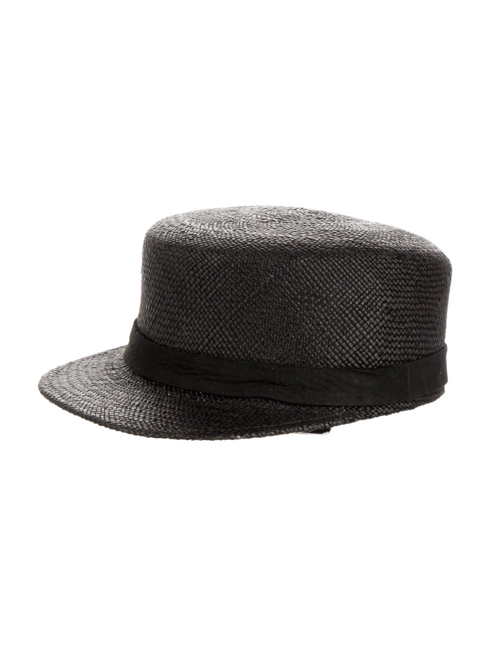 Janessa Leone Grey Straw Messenger Hat w/ Tags Gr… - image 2