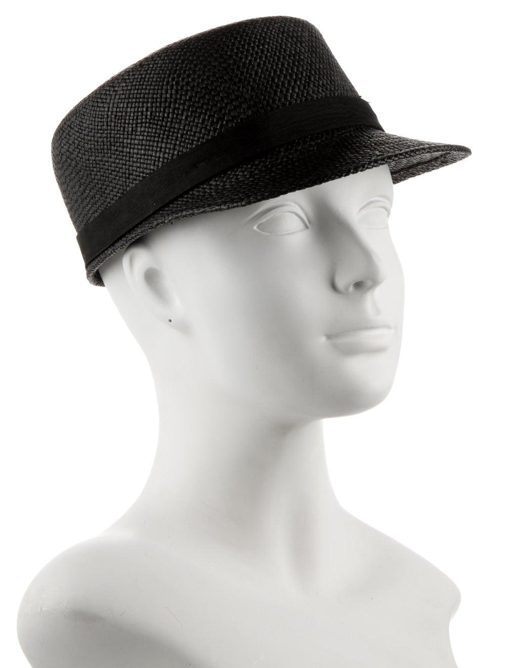 Janessa Leone Grey Straw Messenger Hat w/ Tags Gr… - image 3