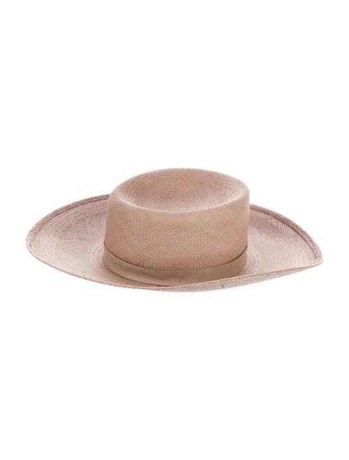 Janessa Leone Tan Straw Hat Tan - image 1