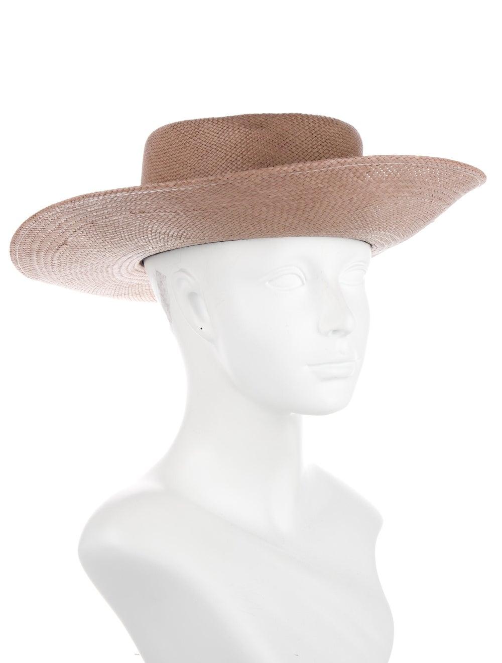 Janessa Leone Tan Straw Hat Tan - image 3