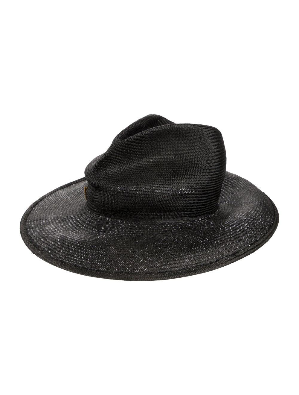 Janessa Leone Straw Wide Brimmed Hat black - image 1