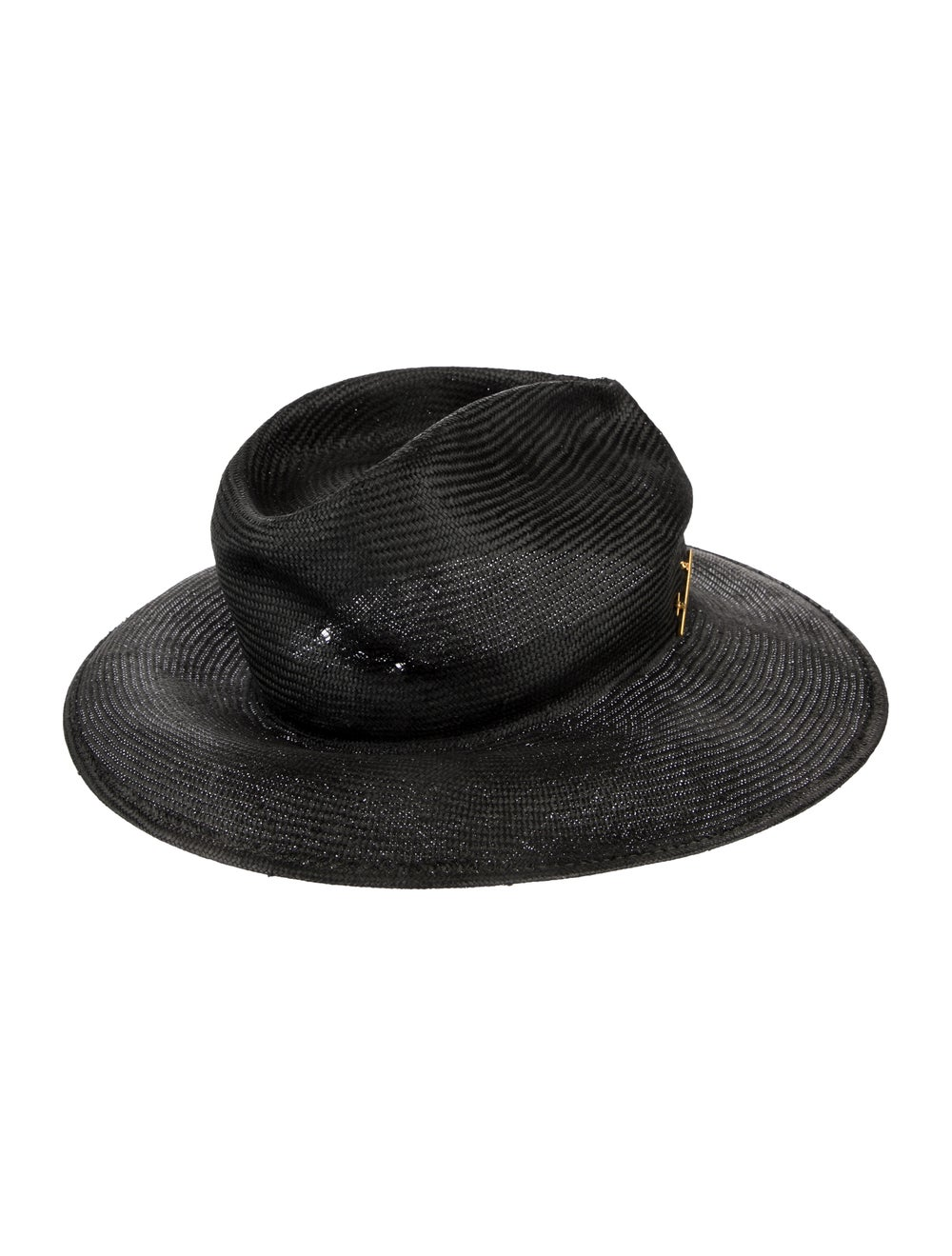 Janessa Leone Straw Wide Brimmed Hat black - image 2