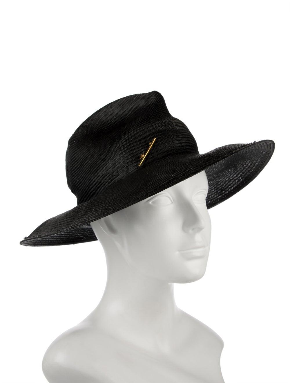 Janessa Leone Straw Wide Brimmed Hat black - image 3