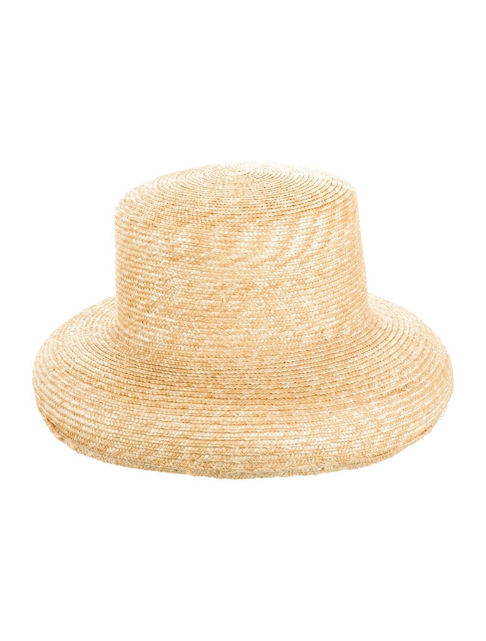 Janessa Leone Straw Wide Brim Hat - image 1