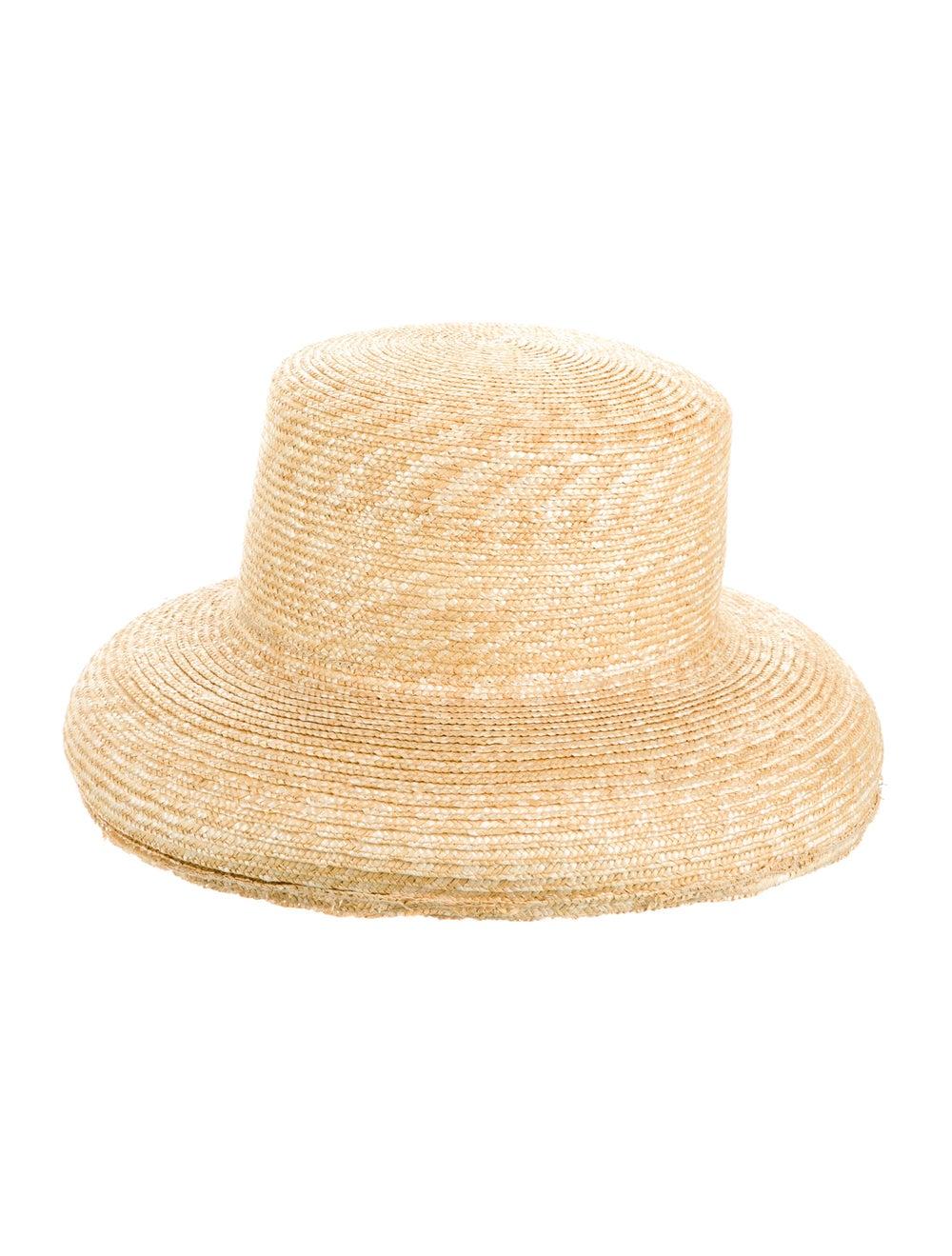 Janessa Leone Straw Wide Brim Hat - image 2
