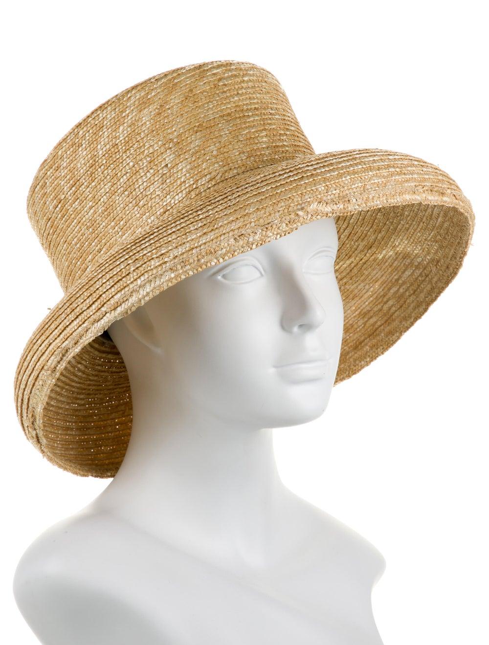 Janessa Leone Straw Wide Brim Hat - image 3