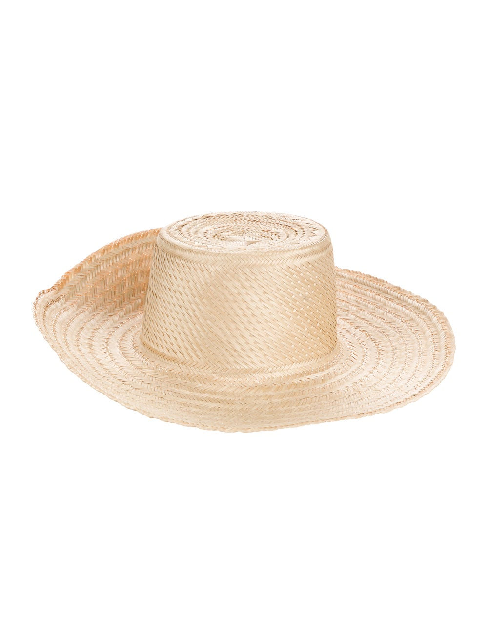 Janessa Leone Straw Hat Tan - image 1