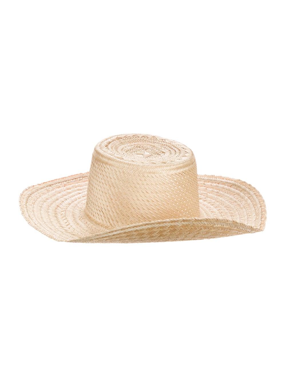 Janessa Leone Straw Hat Tan - image 2