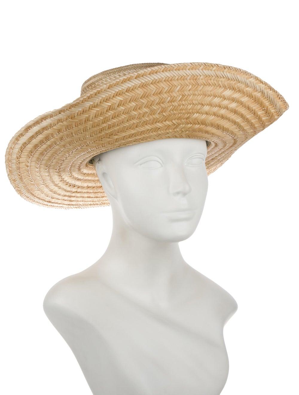 Janessa Leone Straw Hat Tan - image 3