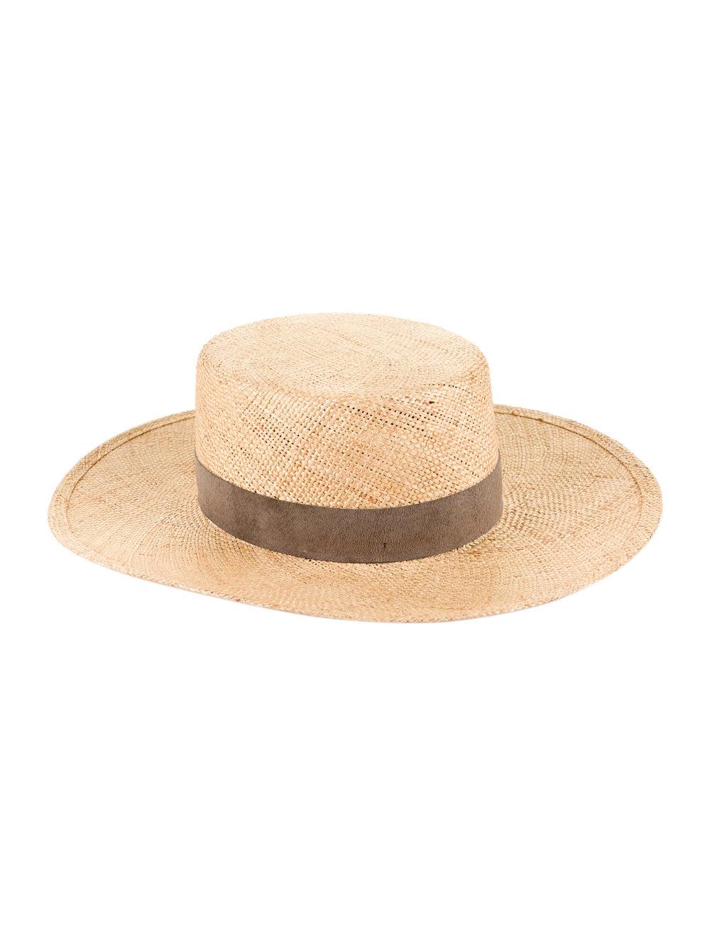 Janessa Leone Wide Brim Straw Hat yellow - image 1
