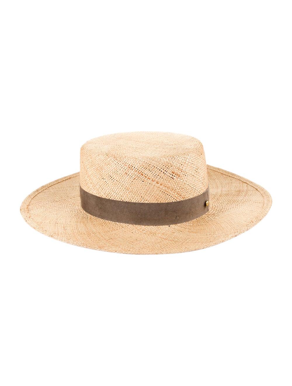 Janessa Leone Wide Brim Straw Hat yellow - image 2