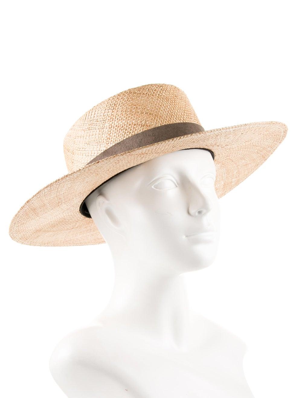 Janessa Leone Wide Brim Straw Hat yellow - image 3
