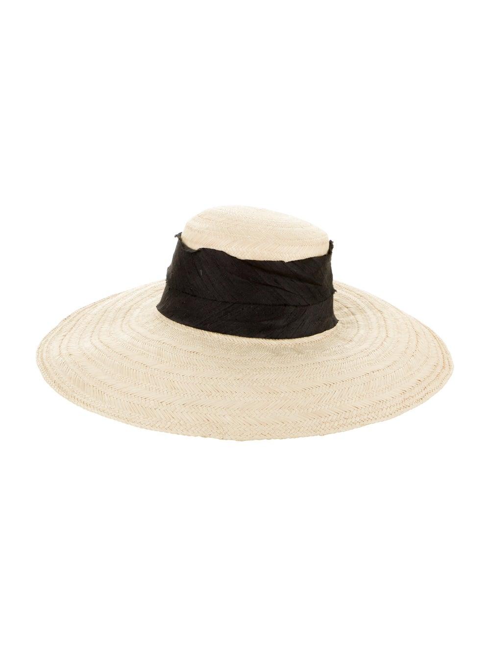Janessa Leone Wide Brim Straw Hat - image 1