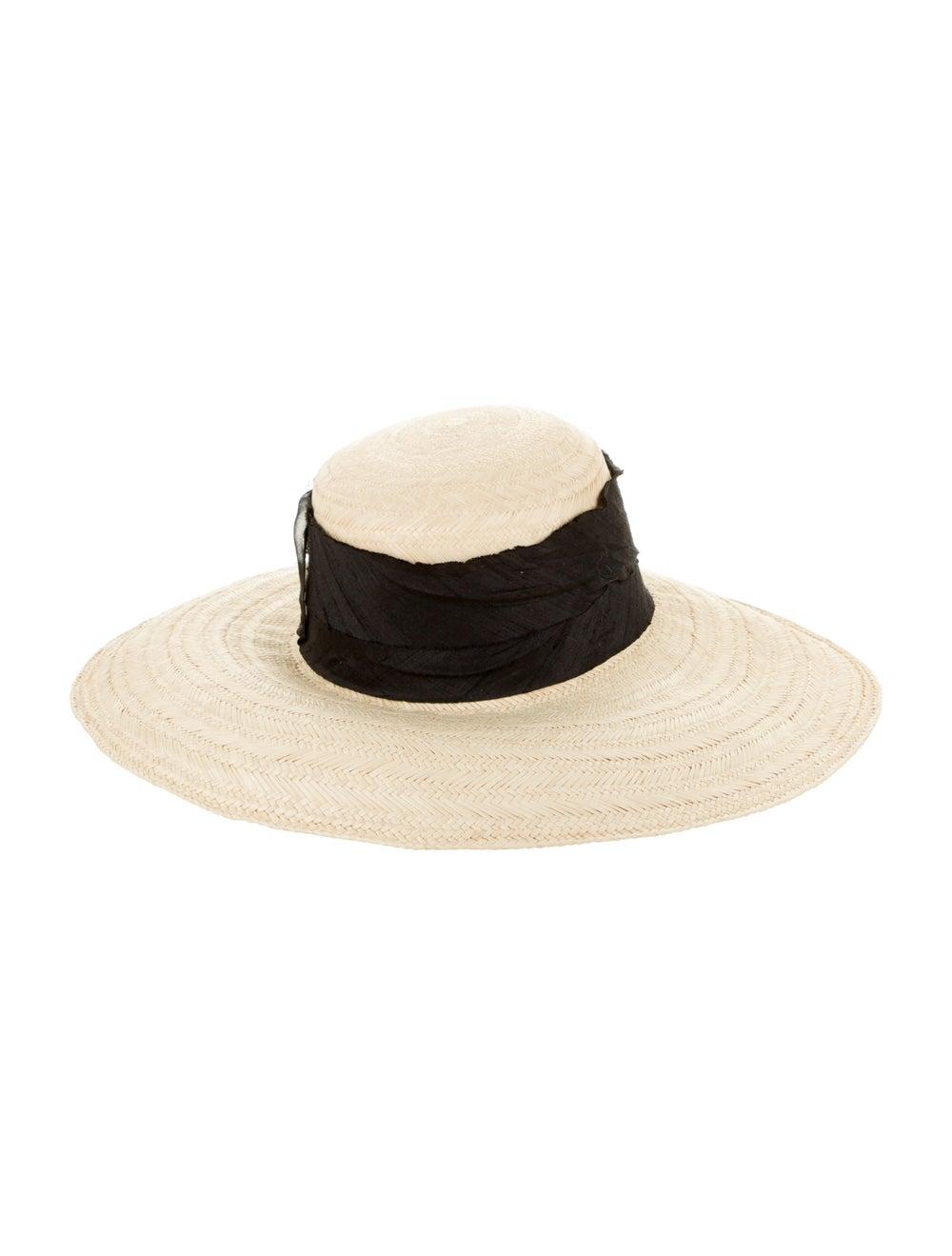 Janessa Leone Wide Brim Straw Hat - image 2