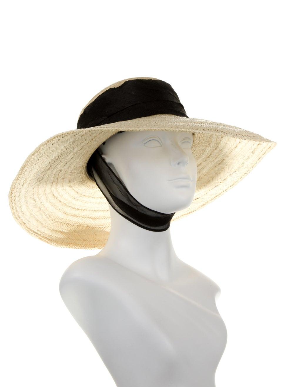 Janessa Leone Wide Brim Straw Hat - image 3
