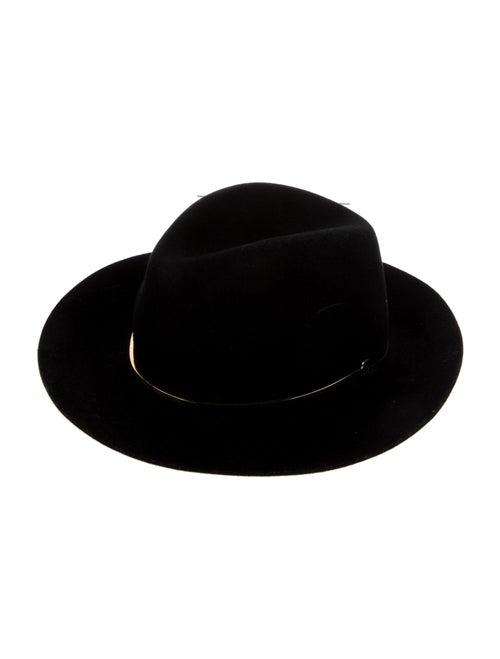 Janessa Leone Felt Fedora Hat Black