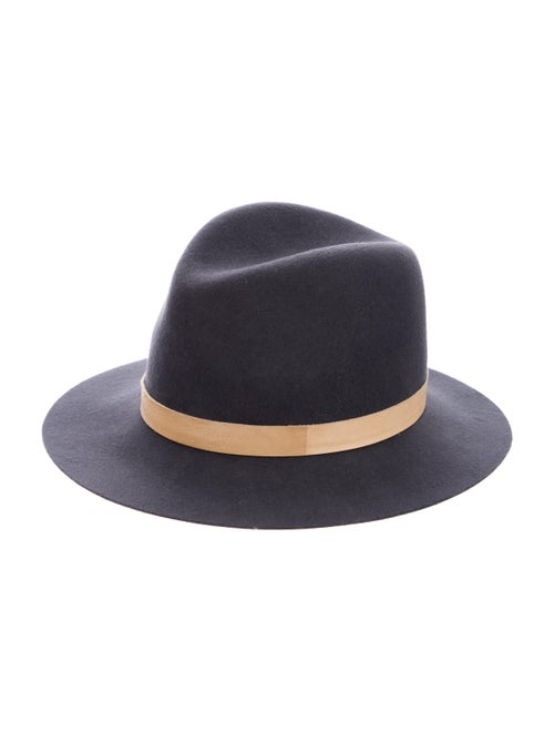 Janessa Leone Wool Fedora Hat Grey