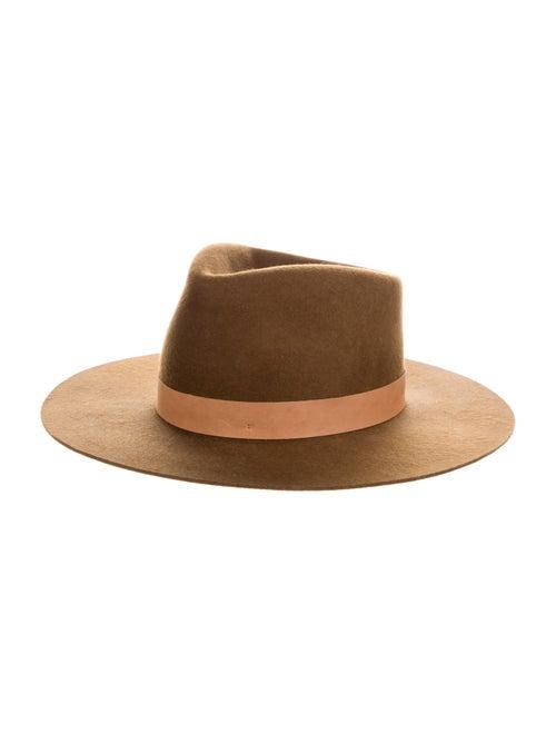 Janessa Leone Wool Fedora Hat Brown