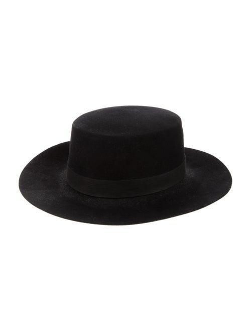 Janessa Leone Wool Wide Brim Hat Black