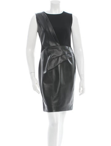 Leather & Wool Sleeveless Dress