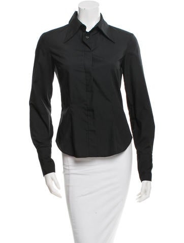 J. Mendel Long Sleeve Button-Up Top None