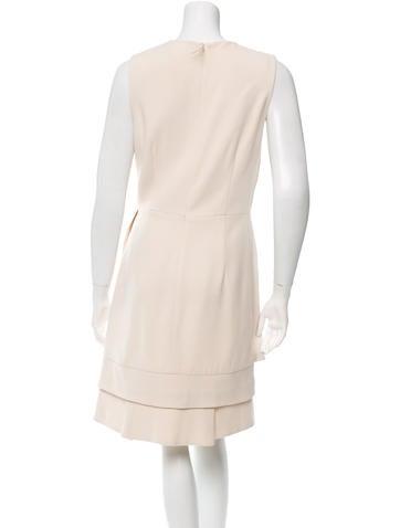 Draped V-Neck Dress