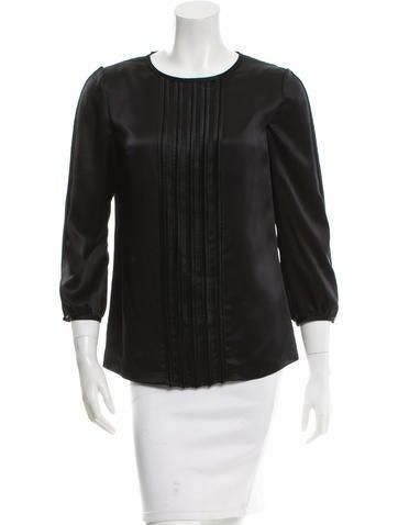 J. Mendel Silk Long Sleeve Top None