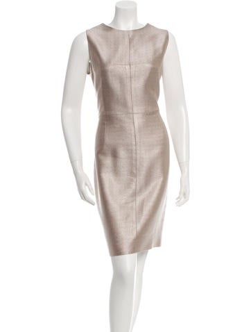 J. Mendel Sleeveless Knee-Length Dress