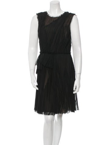 J. Mendel Pleated Silk Dress