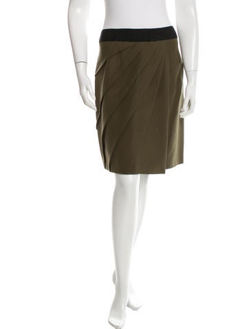 J. Mendel Pleated Pencil Skirt