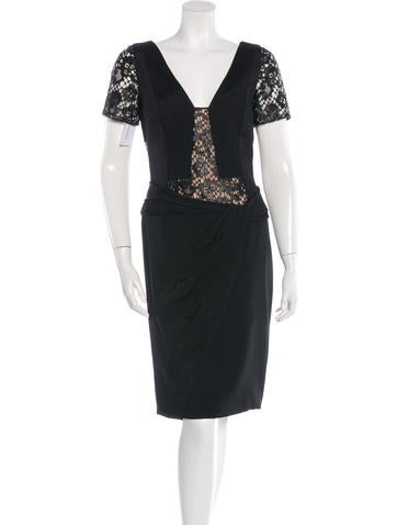 J. Mendel Lace-Accented Sheath Dress w/ Tags